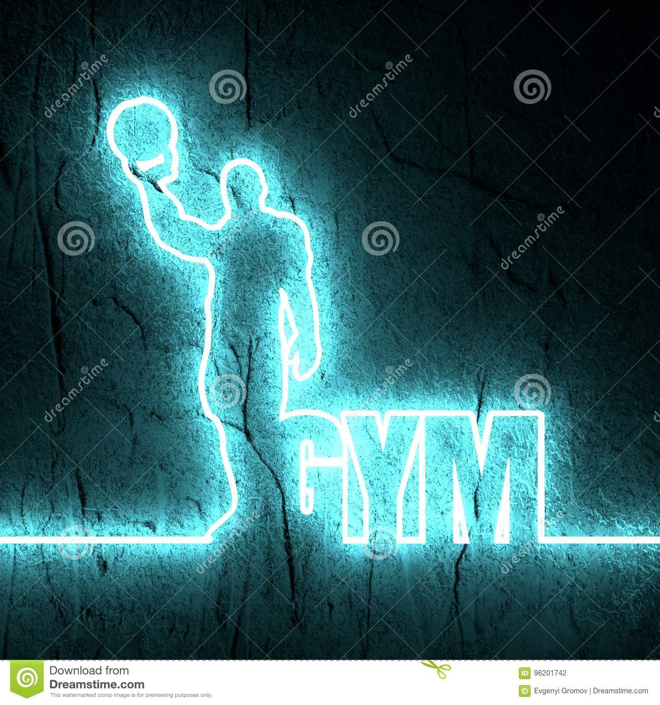 Bodybuilder Silhouette Posing Stock Photo Image Of Leaflet
