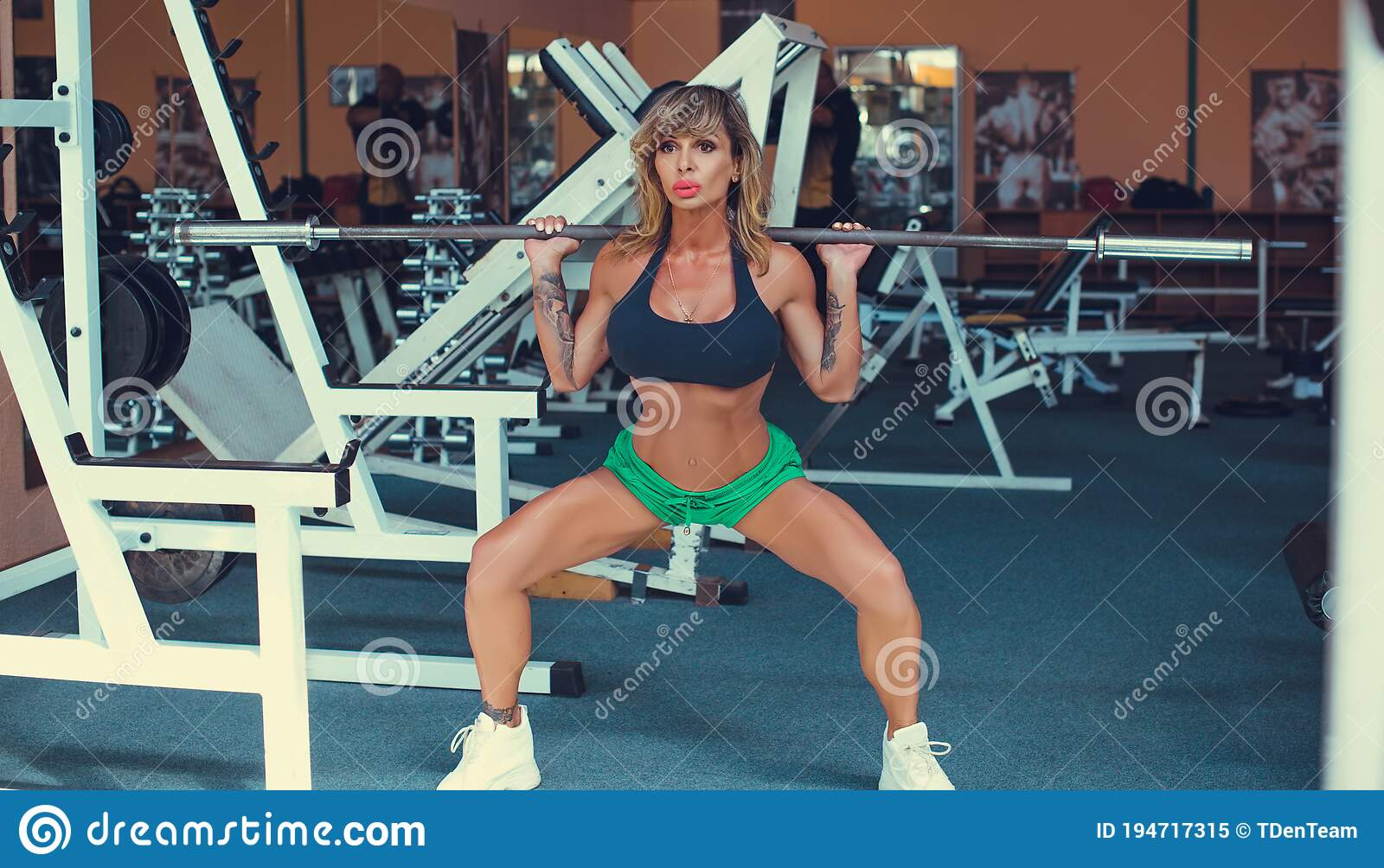Sexy woman working out