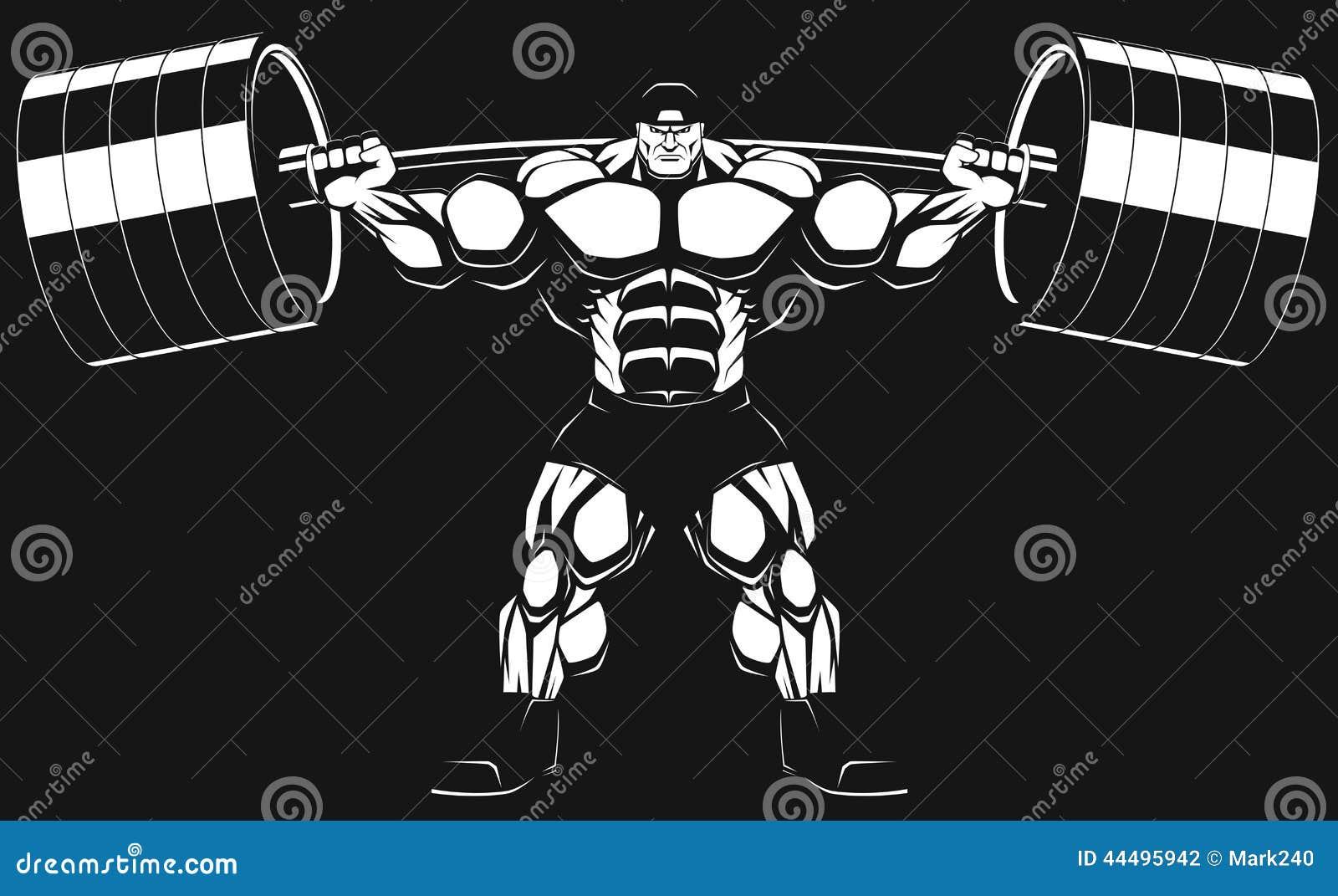 Bodybuilder z barbell