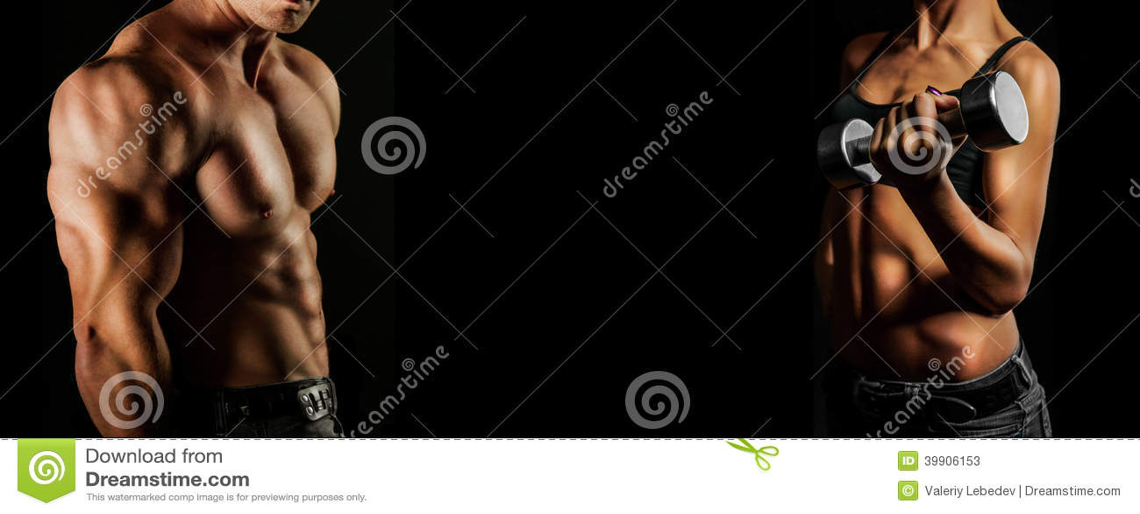 Bodybuilding. Άνδρας και γυναίκα