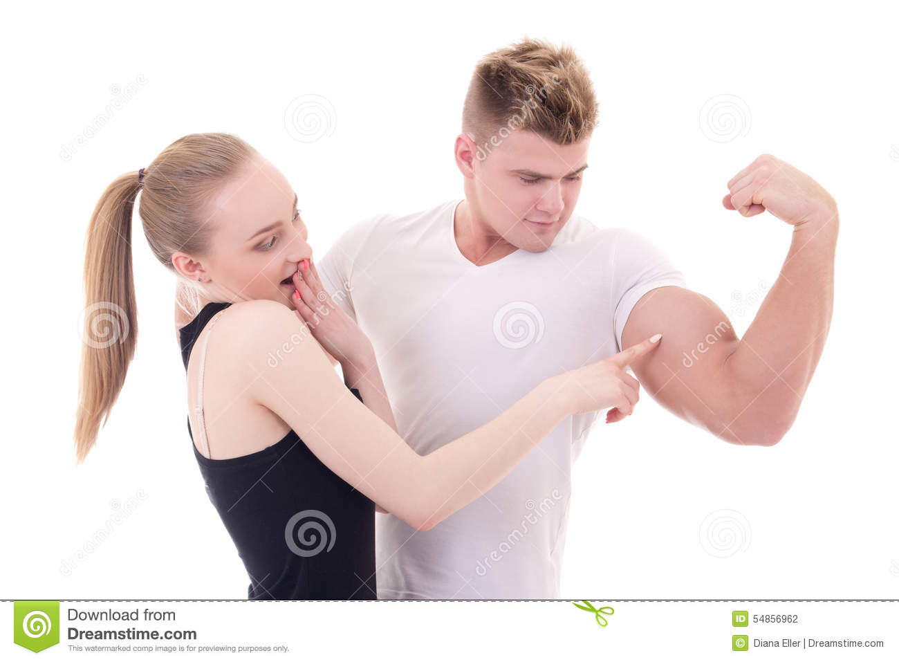 Bodybuilding Concept - Muscular Man Showing His Muscles To
