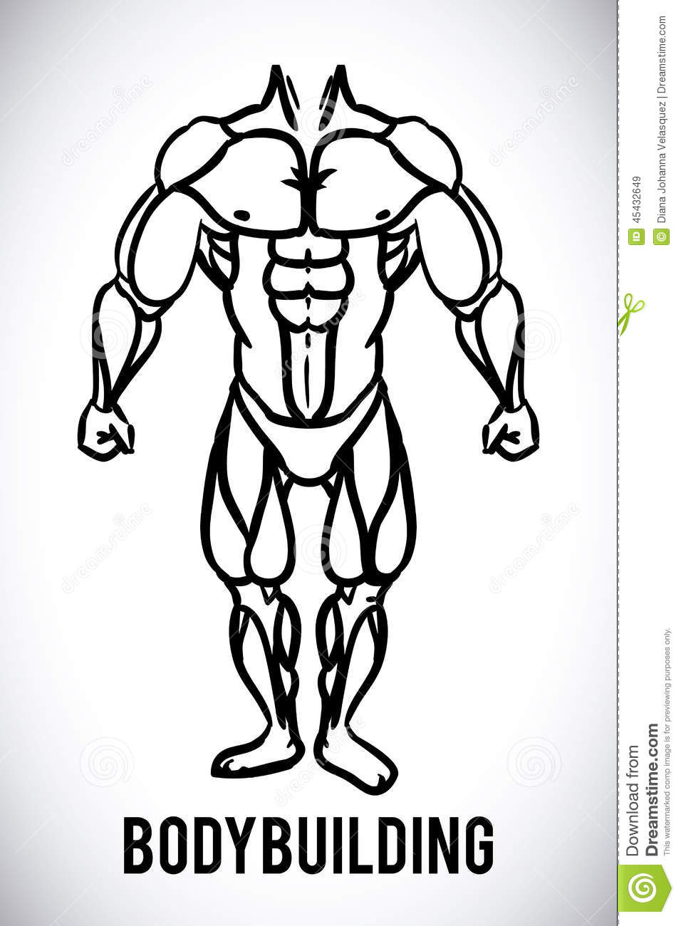 Bodybuilding design stock vector. Illustration of sportsman - 45432649 for Bodybuilding Graphic Design  173lyp