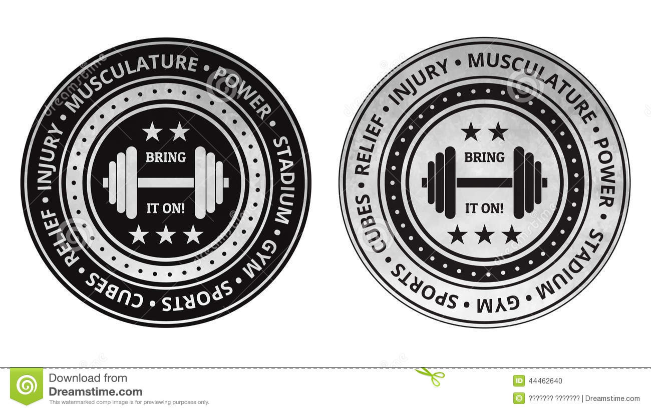 Bodybuilding Fitness Gym Icons Vector On A White Stock Vector - Image