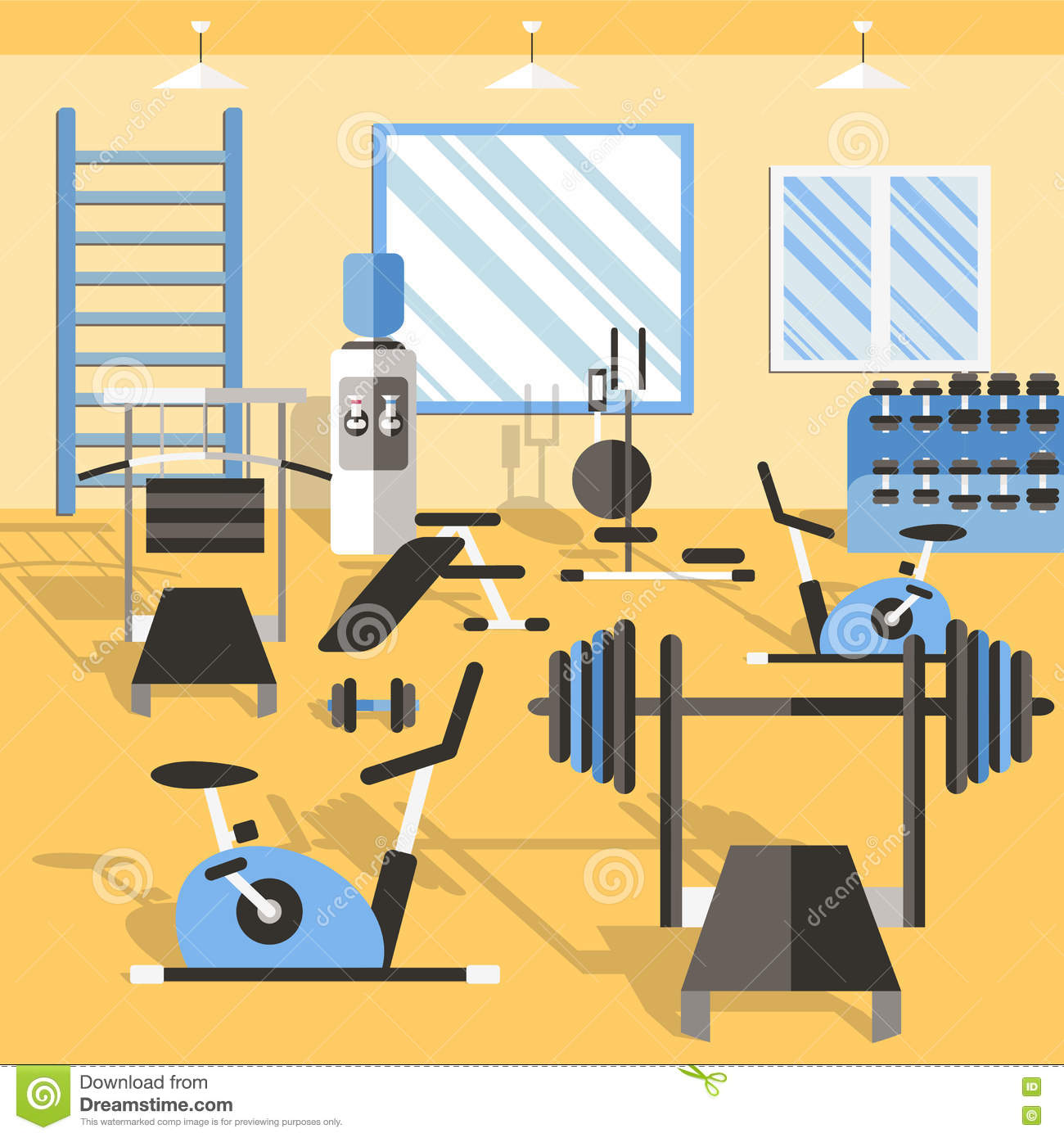 Bodybuilding gym poster stock vector illustration of male