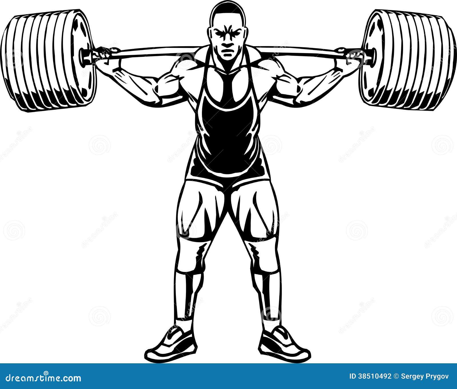 Bodybuilding i Powerlifting - wektor.