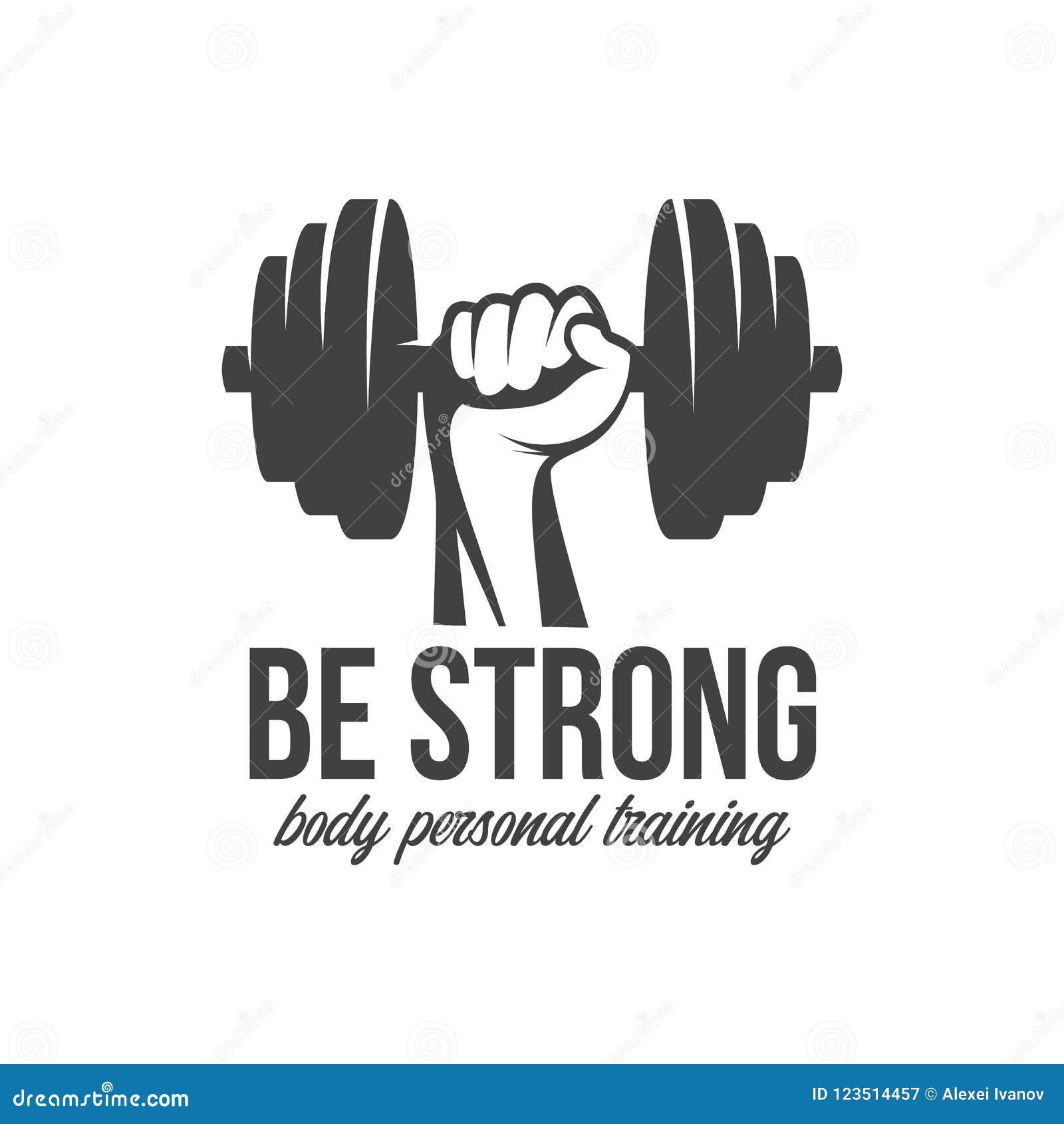Bodybuilding, powerlifting, kettlebell, treningu logotypu znaka symbol Sprawność fizyczna loga emblemata projekta elementy kultur