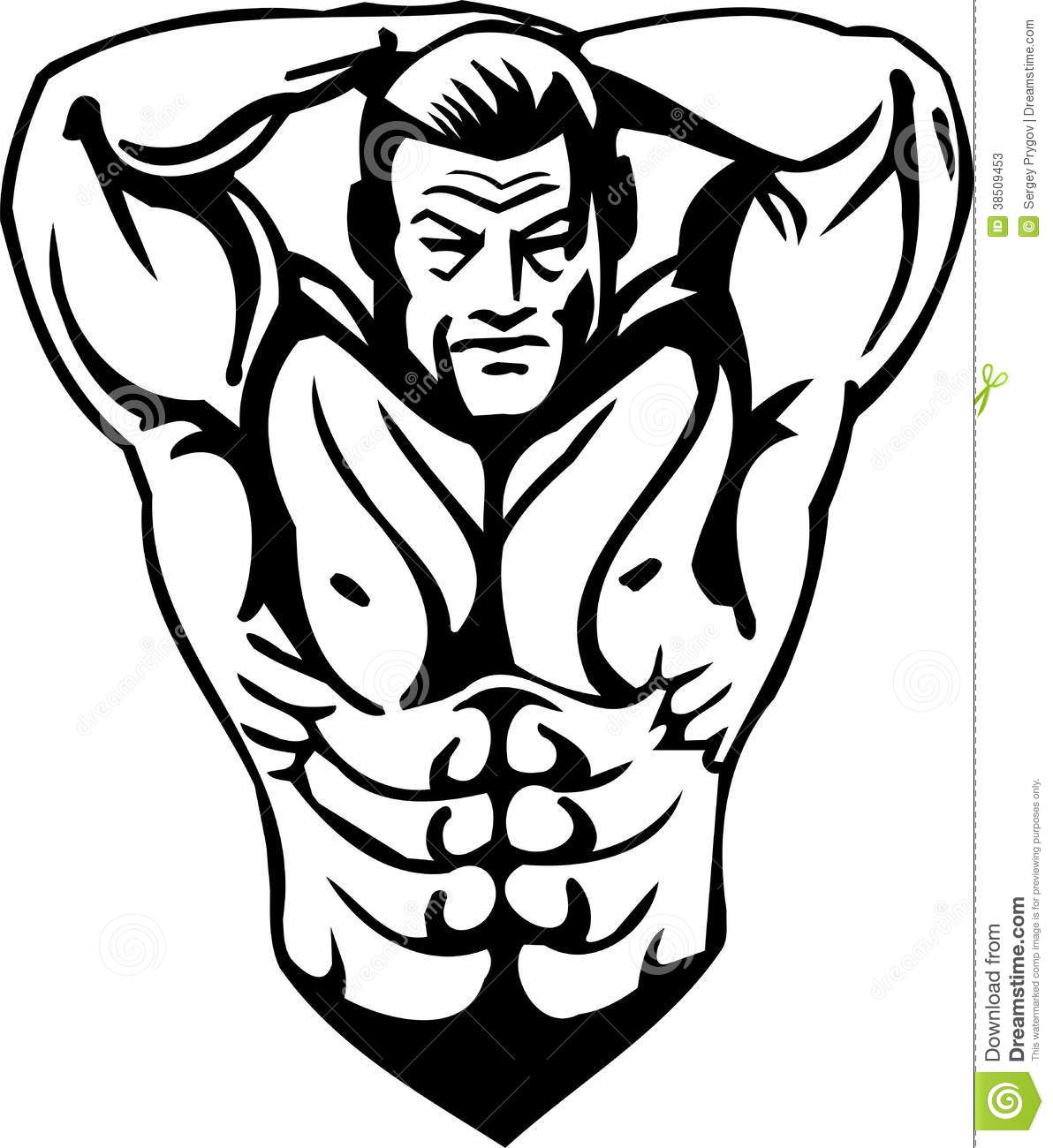 Bodybuilding and powerlifting vector stock photos - Cartoon body builder ...