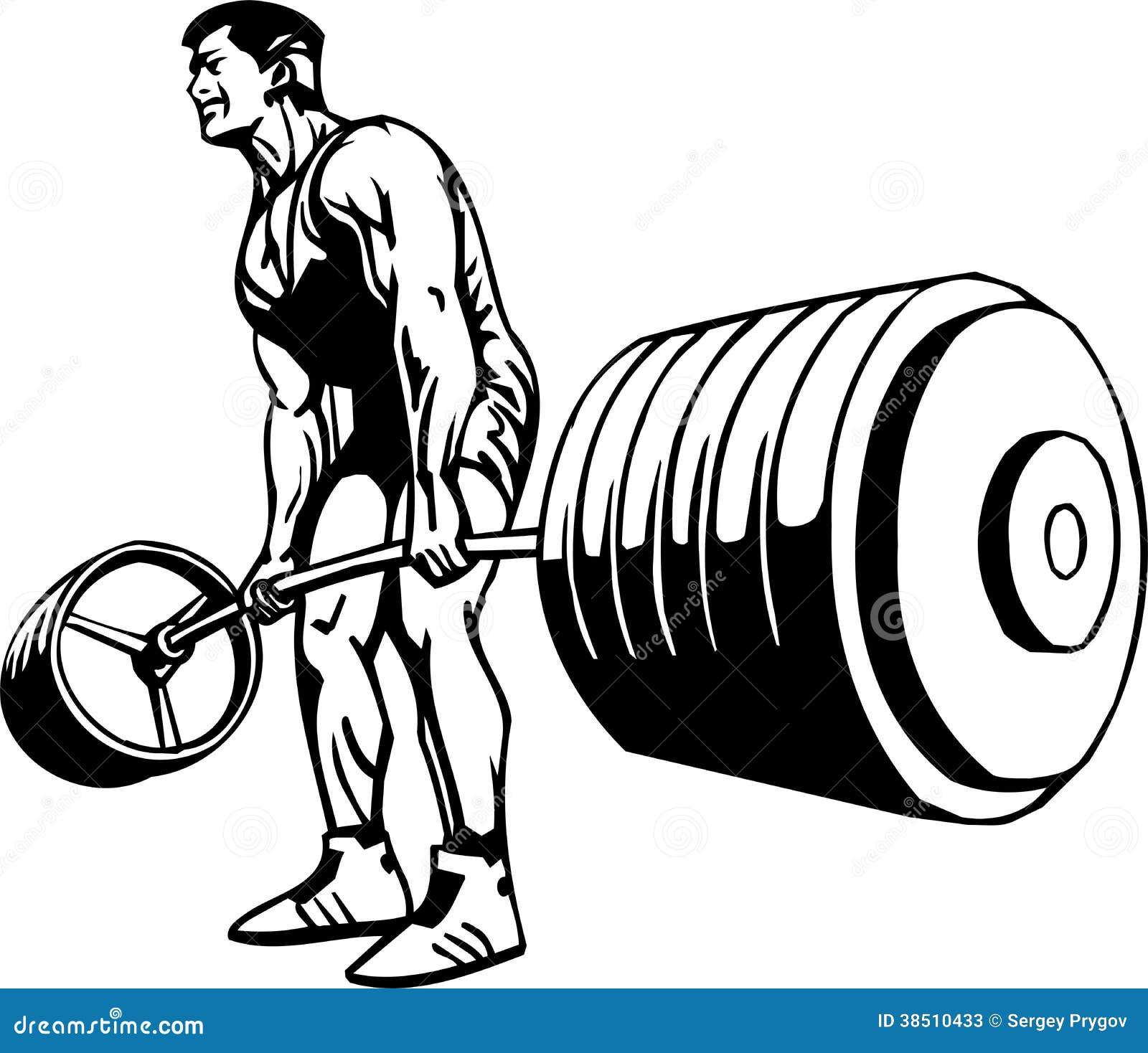 Bodybuilding und Powerlifting - Vektor.