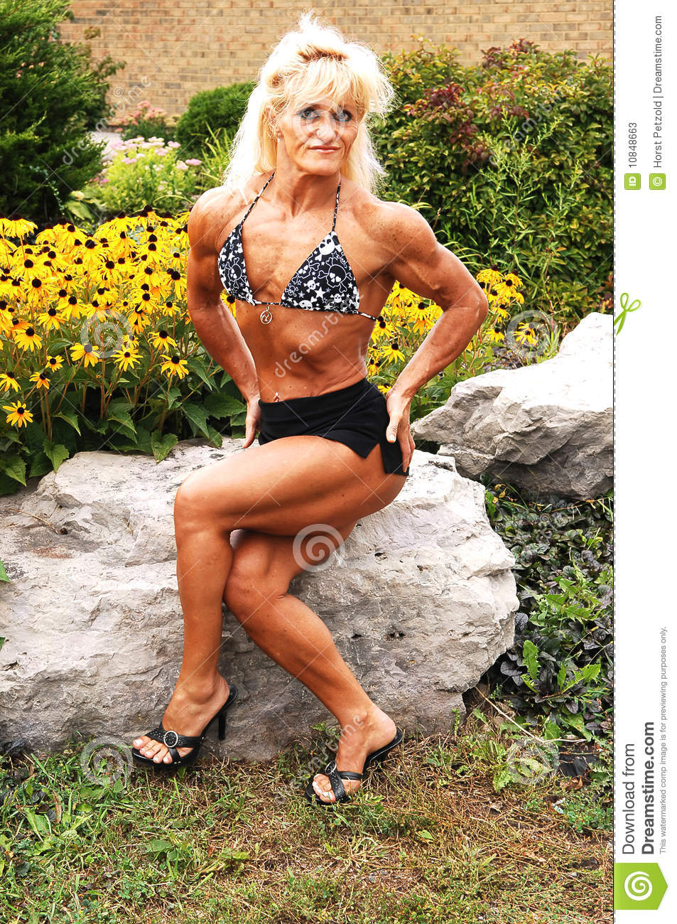 Bodybuilding Woman On Location. Stock Photos - Image: 10848663