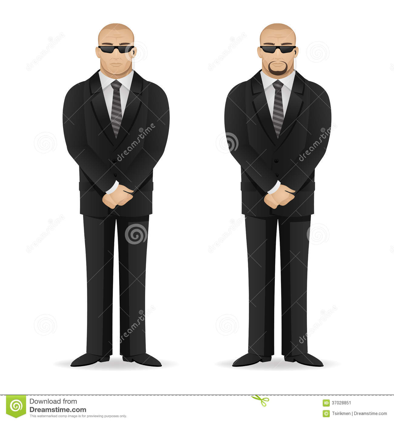 Bodyguard Stands In Closed Pose Stock Image - Image: 37028851