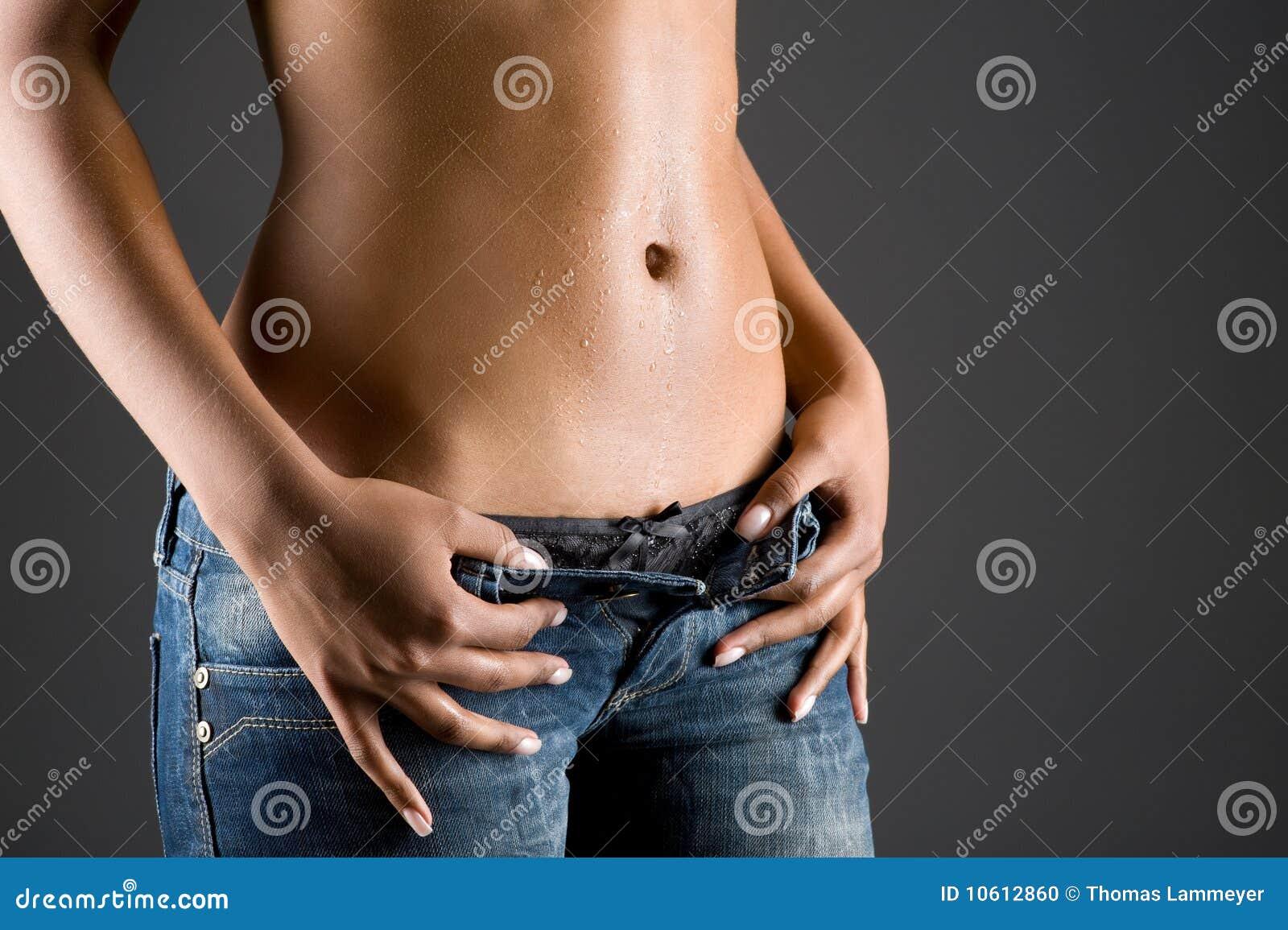 Bodypart de uma mulher nova