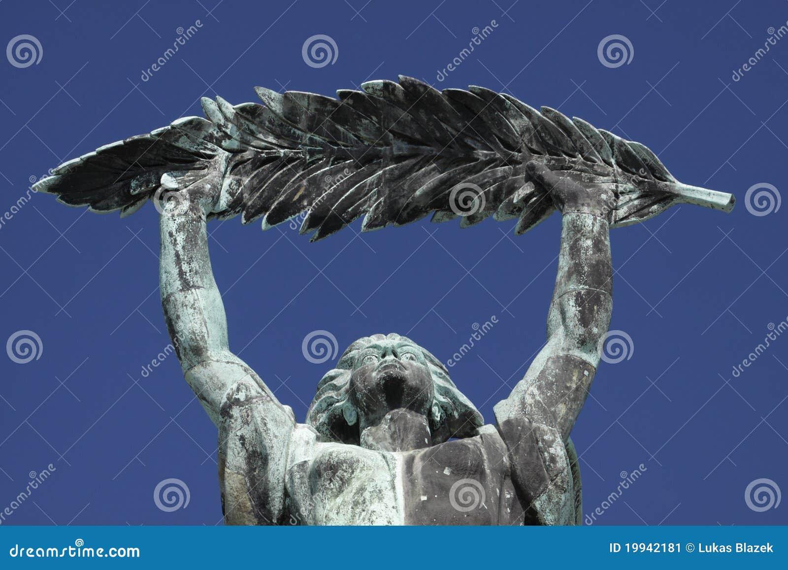 Boedapest - het standbeeld van de Vrijheid
