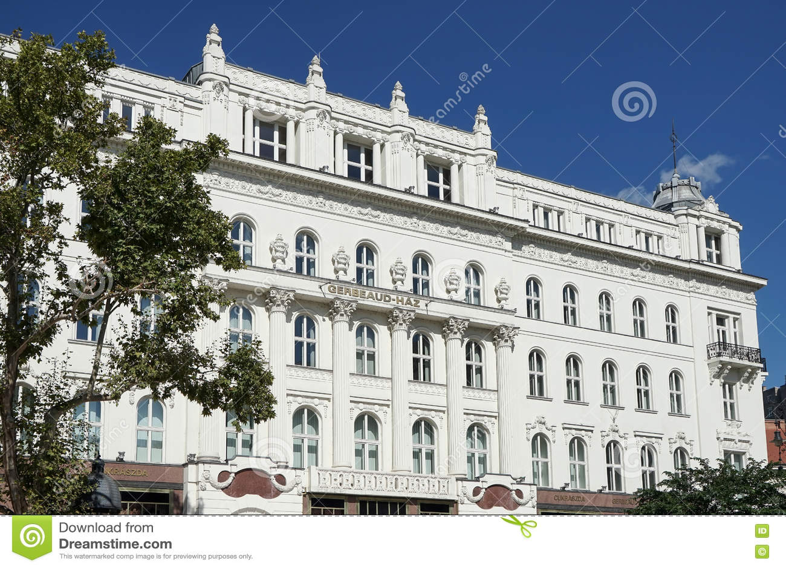 BOEDAPEST, HUNGARY/EUROPE - 21 SEPTEMBER: Koffie Gerbeaud in Budap