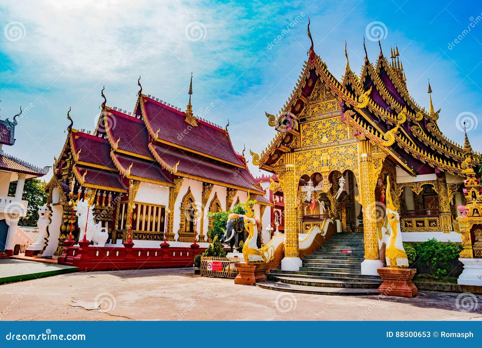 Boeddhistische tempel Chiang Mai, Thailand