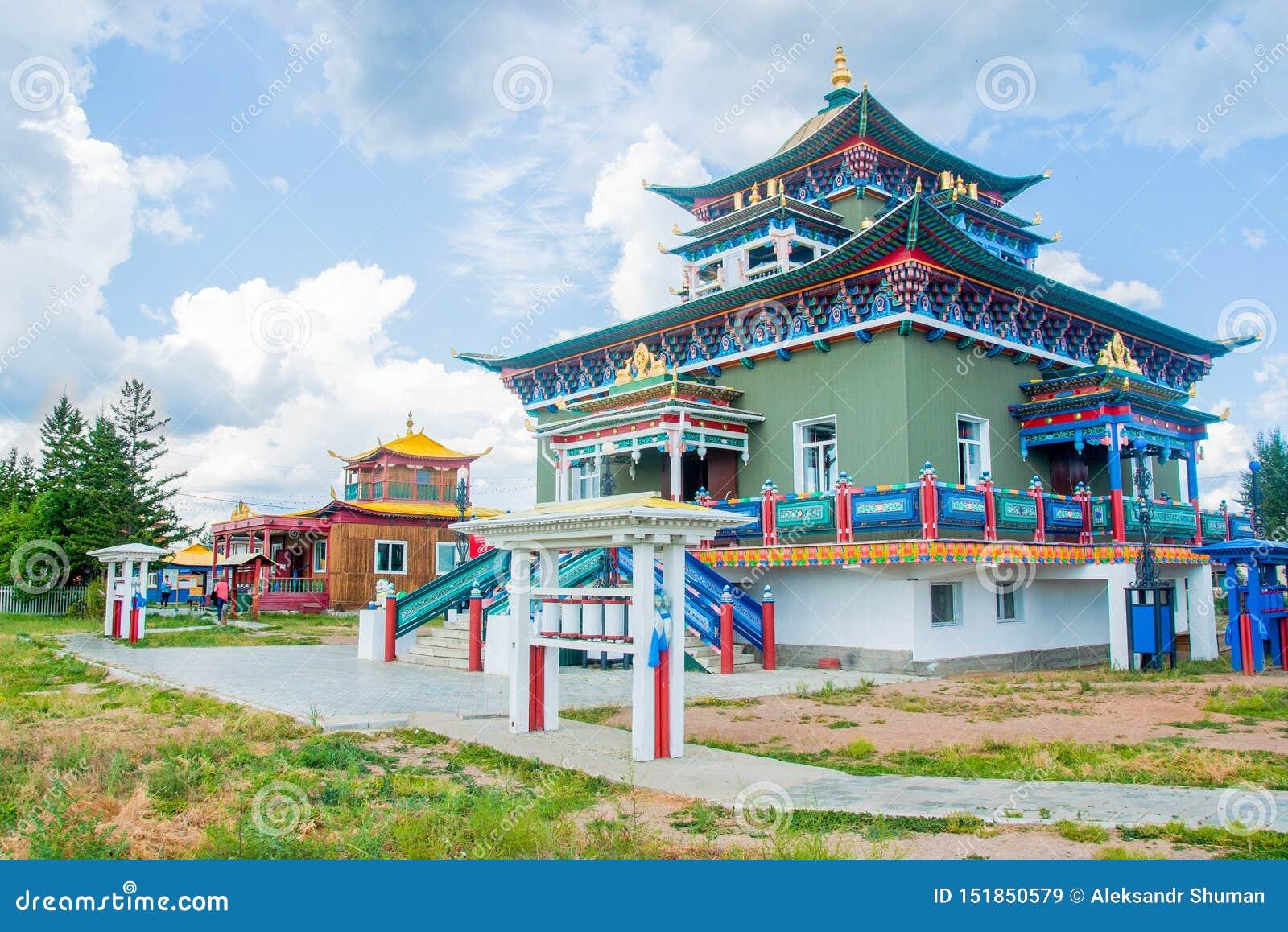 Boeddhistische tempel in datsan Ivolginsky