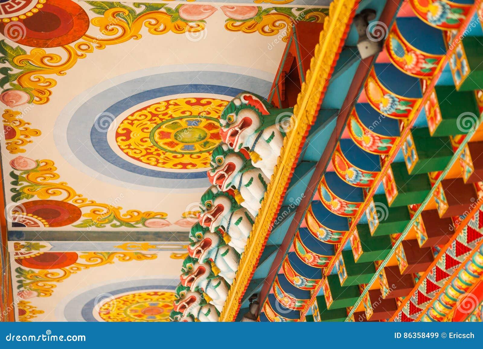 Boeddhistische Tempeldetails