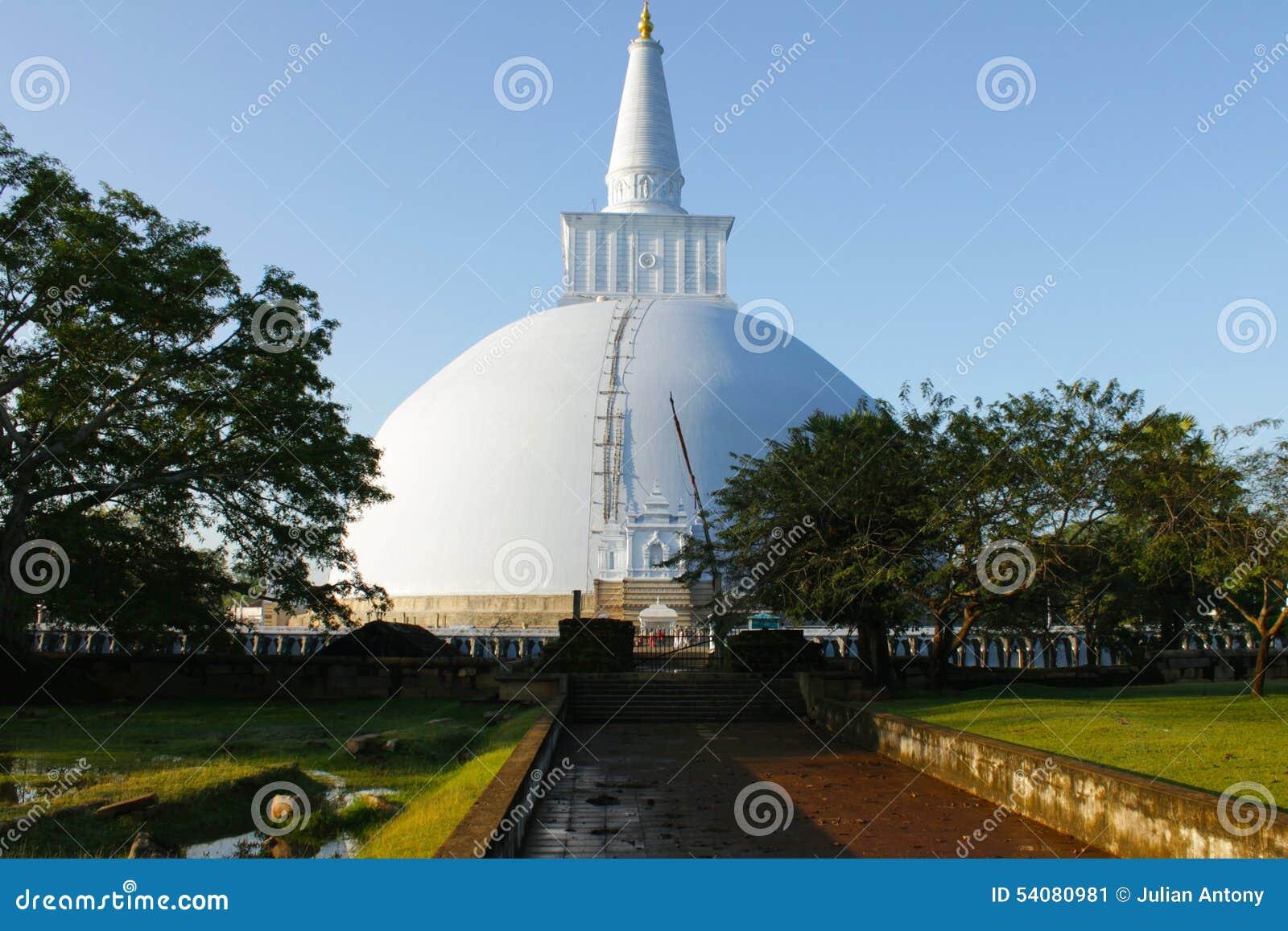 Boeddhistische Tempelruïnes in Dambullah Sri Lanka