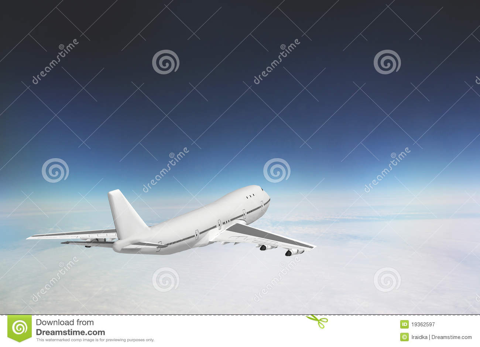 Boeing 747 no céu