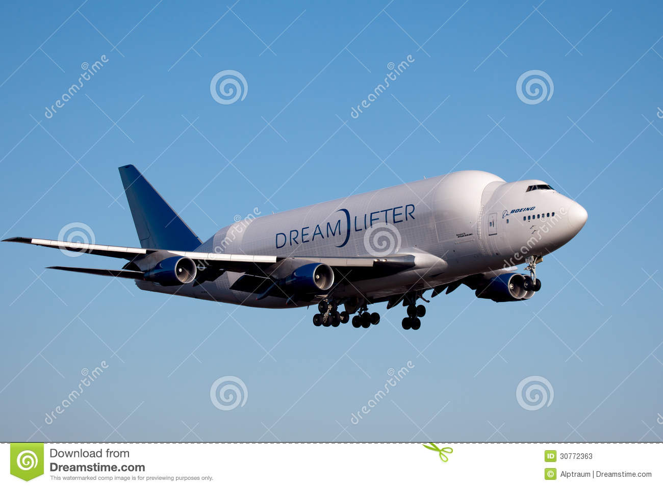 Boeing Dreamlifter in Everett Washington