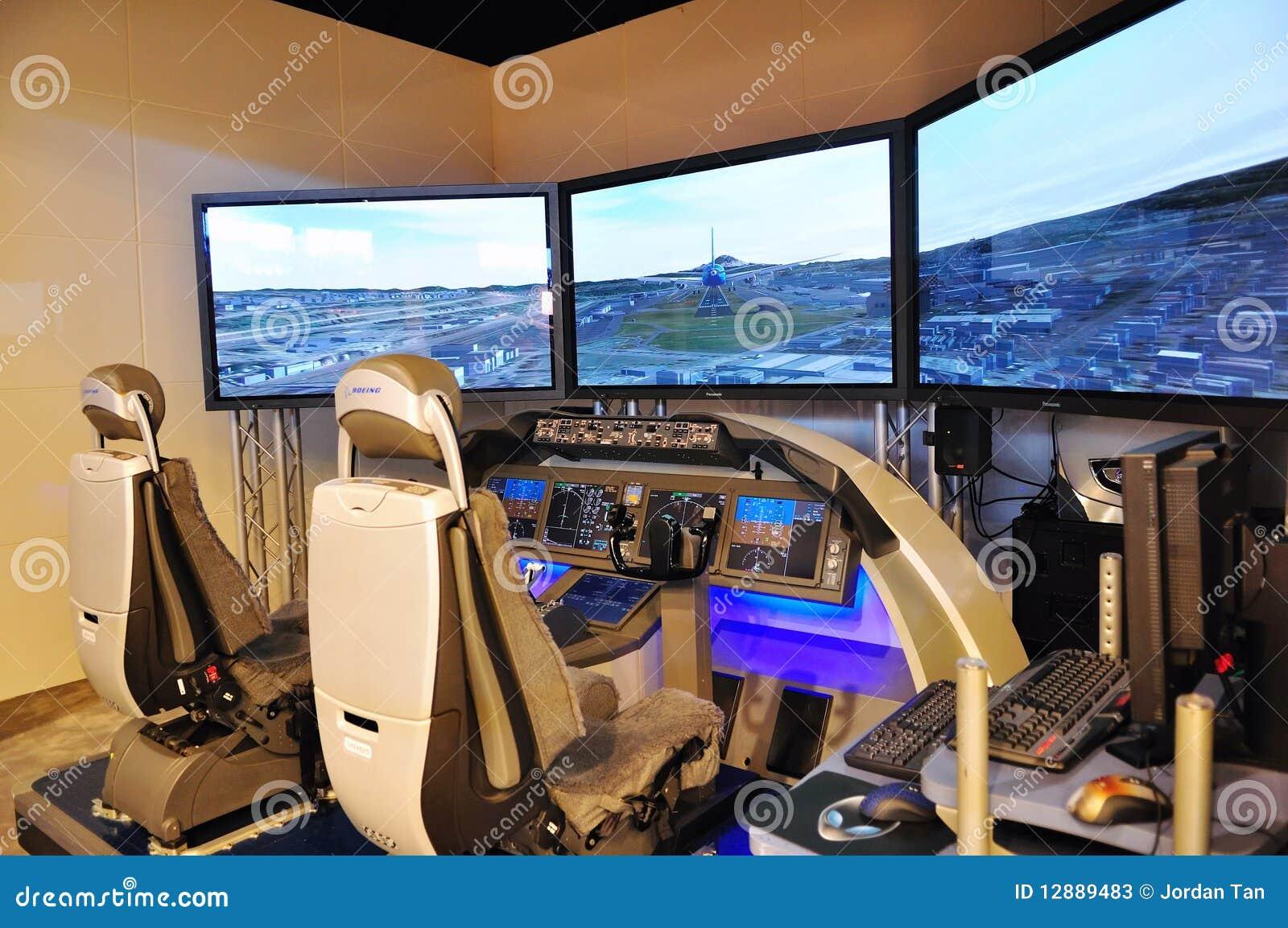 Boeing flight simulator at Singapore Airshow