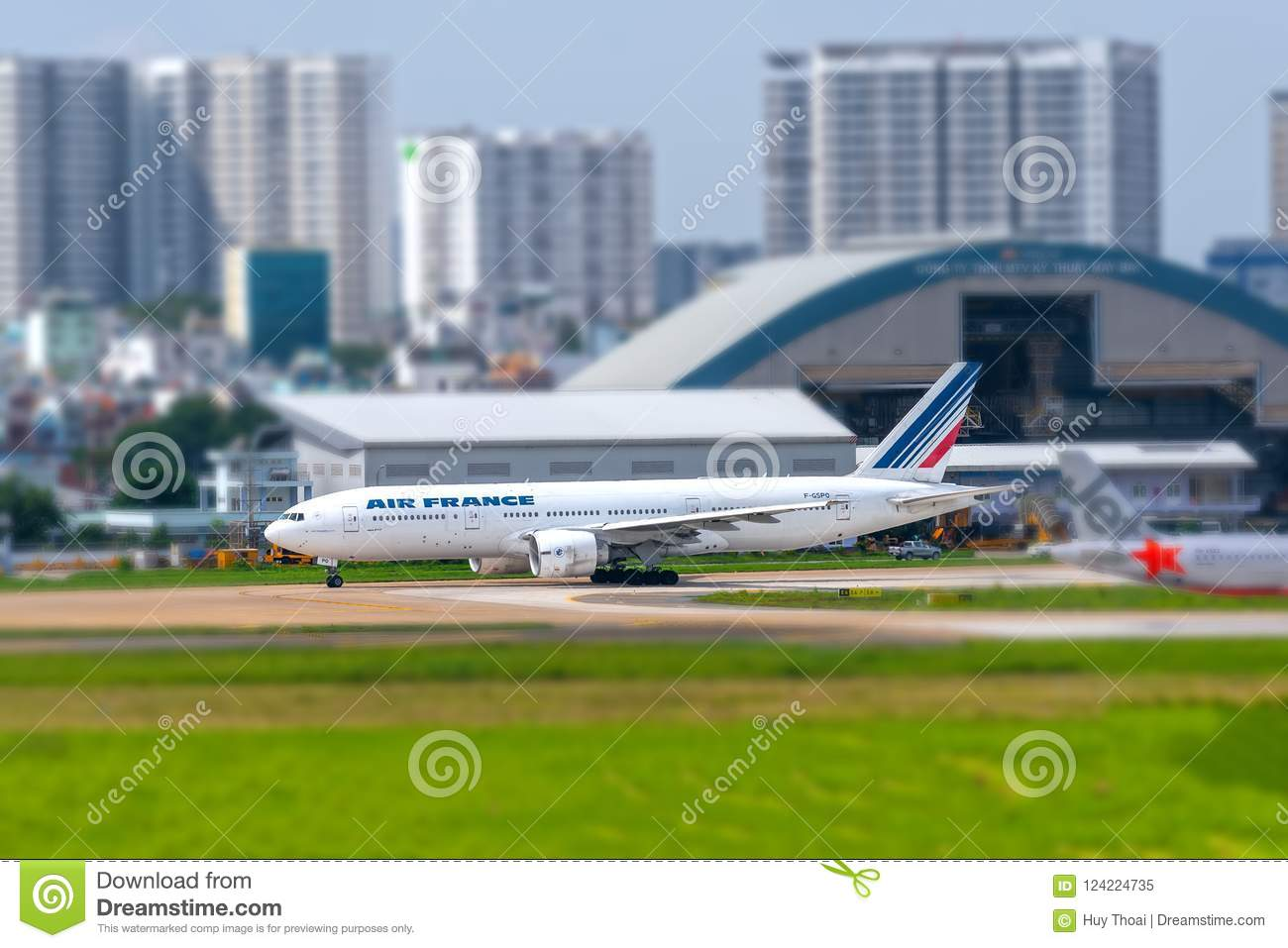 Boeing 777 Passenger Aircraft Of Air France Airline Is