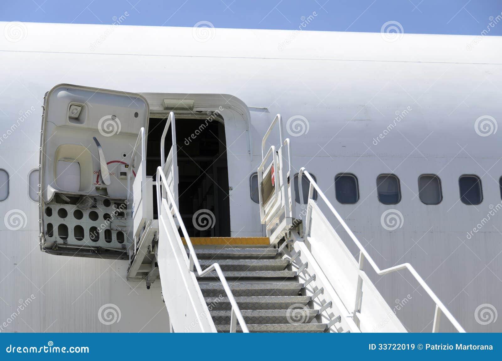 Boeing 747 Stairs. Stock Image. Image Of Paris, City