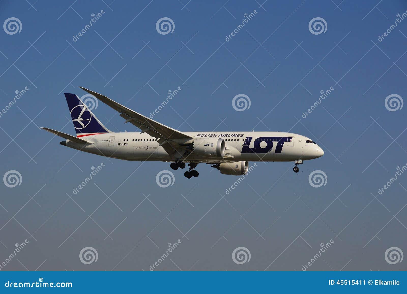 Boeing 787-8 udziału linii lotniczych samolot