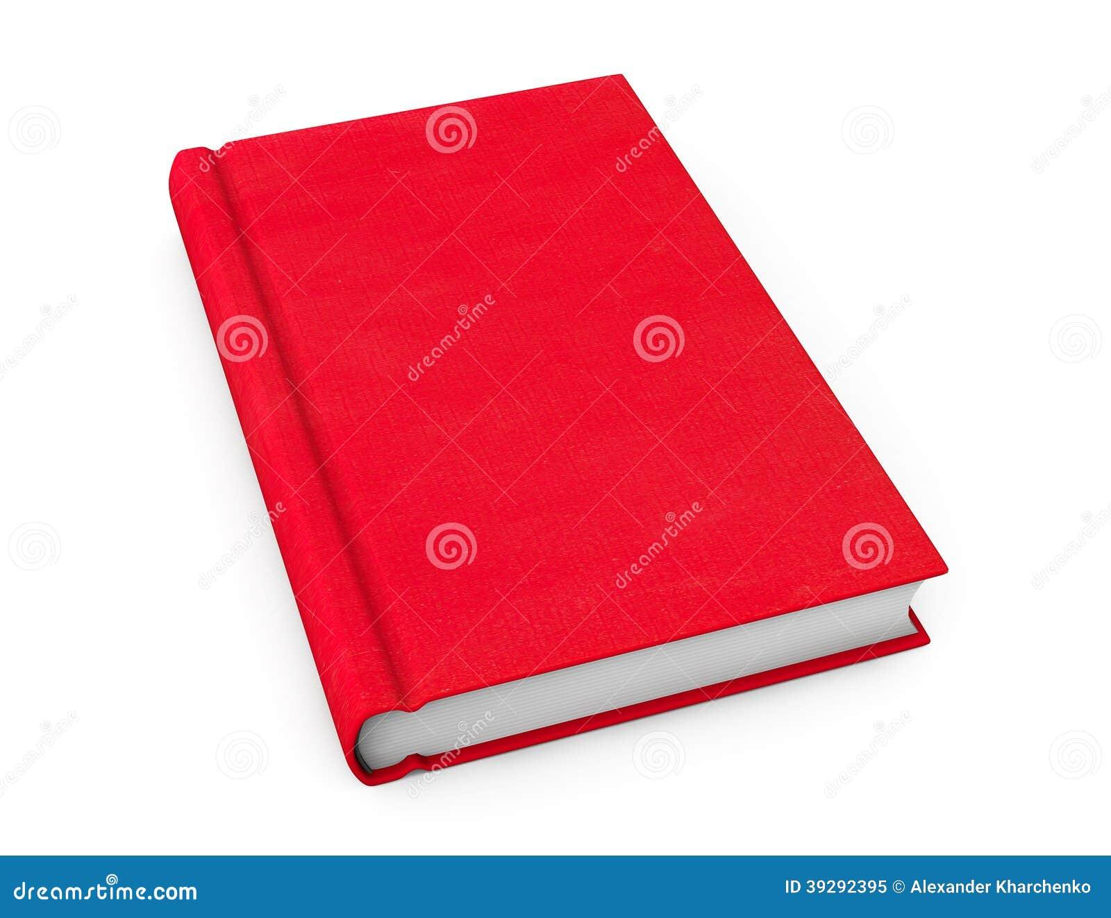 Boek met rode lege dekking
