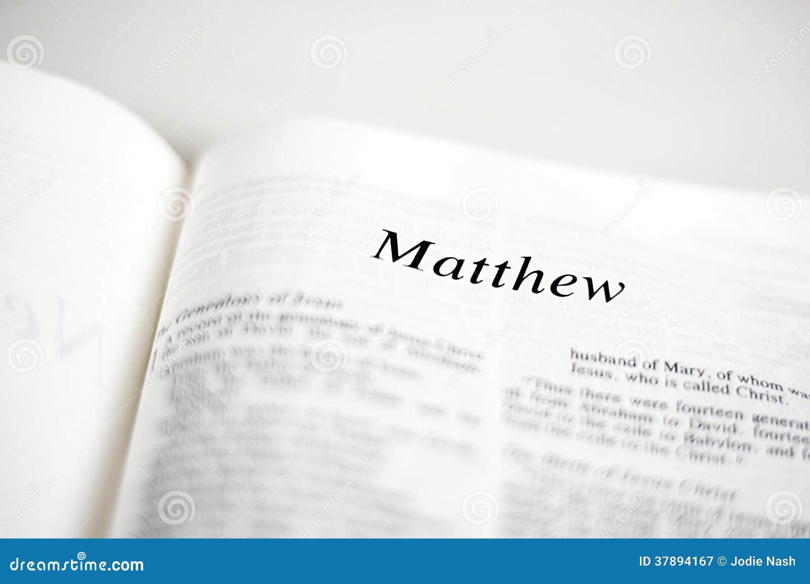 Boek van Matthew