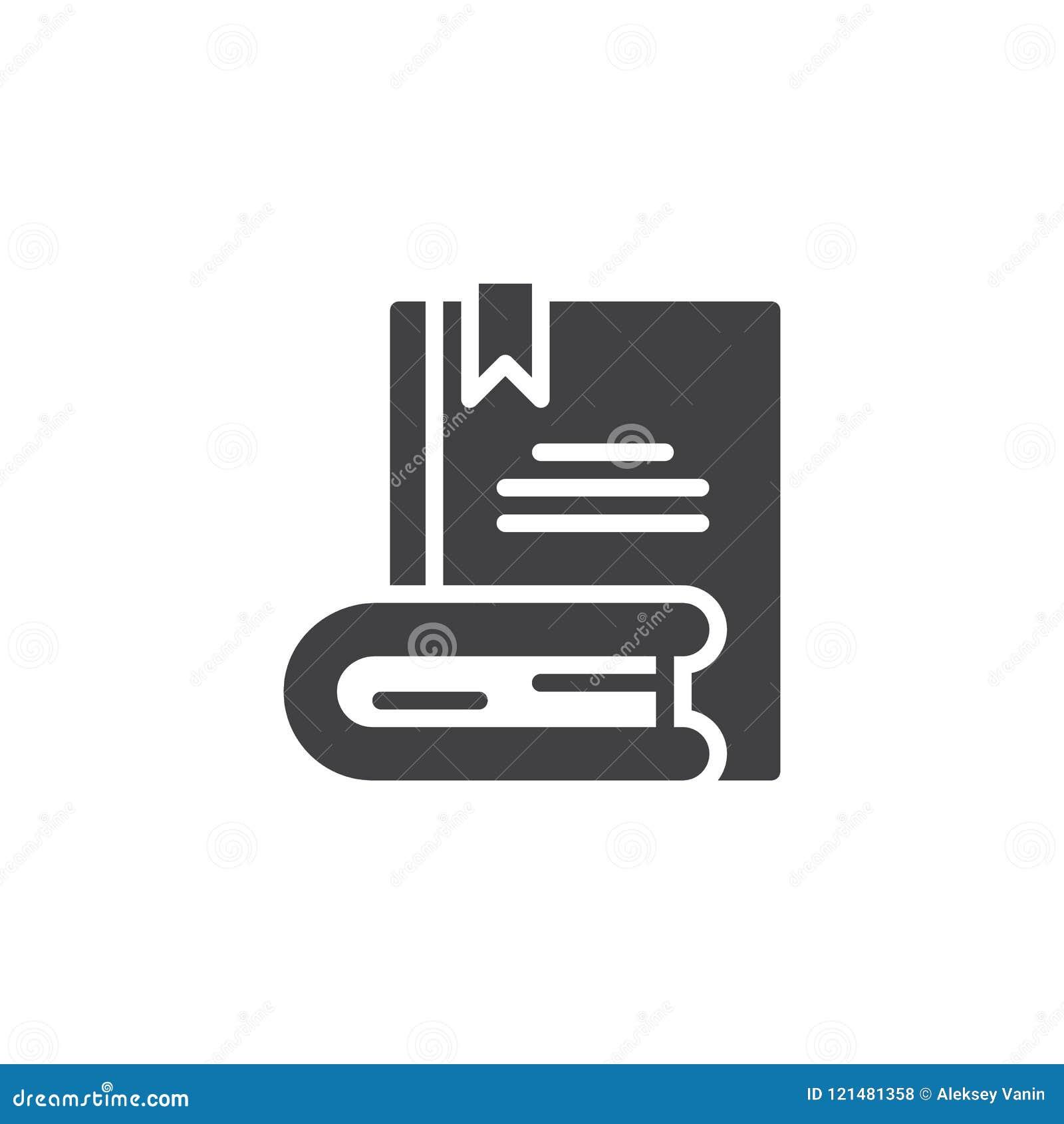 Boeken met referentie vectorpictogram