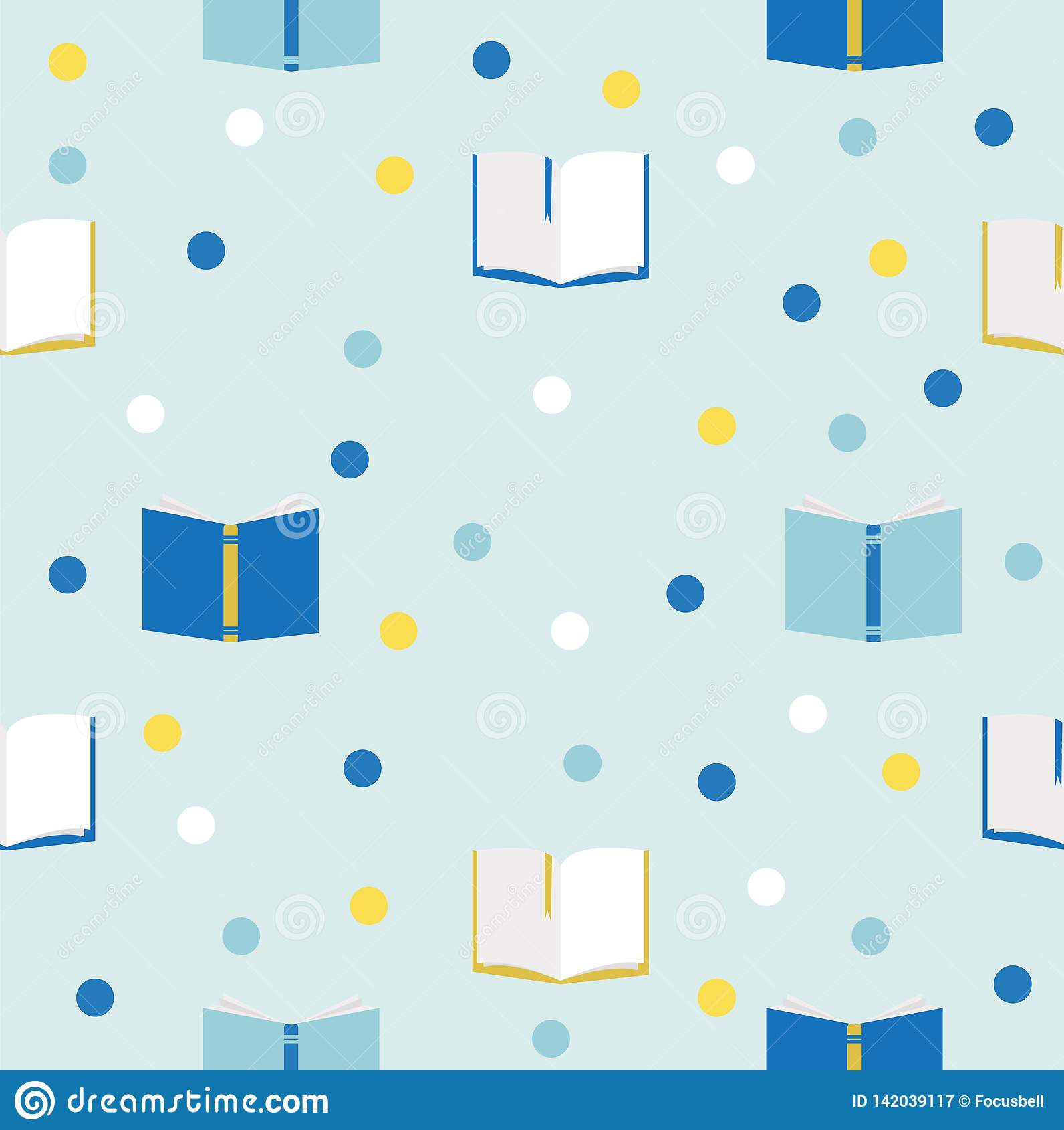 Boeken naadloos vectorpatroon