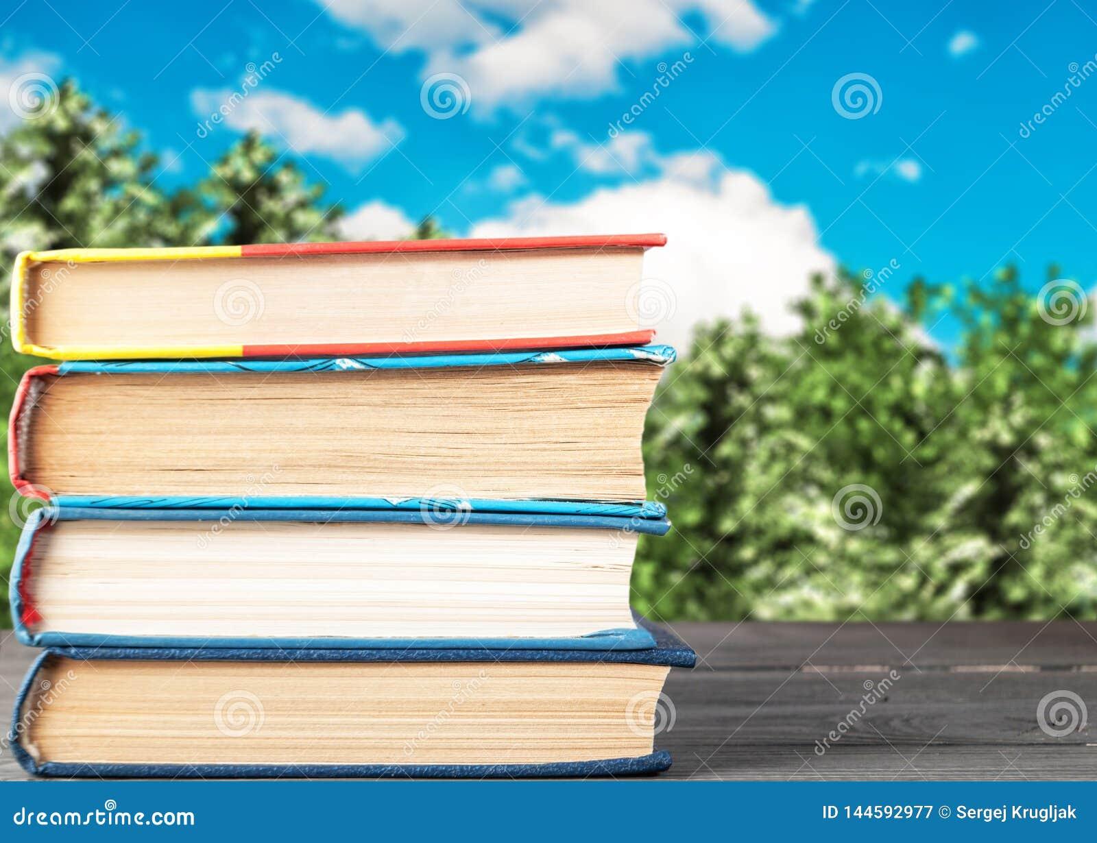 Boeken op een houten verticaal gevouwen lijst