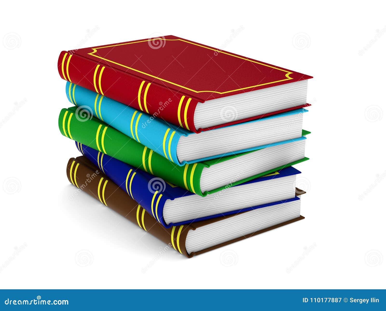 Boeken op Witte Achtergrond Geïsoleerde 3d illustratie