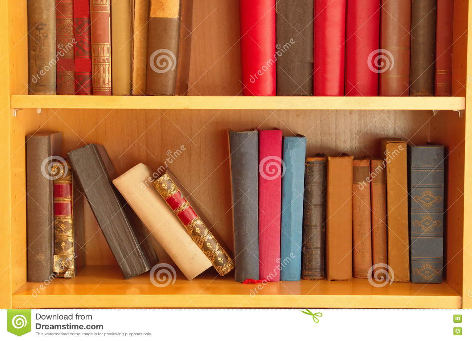Boeken in planken