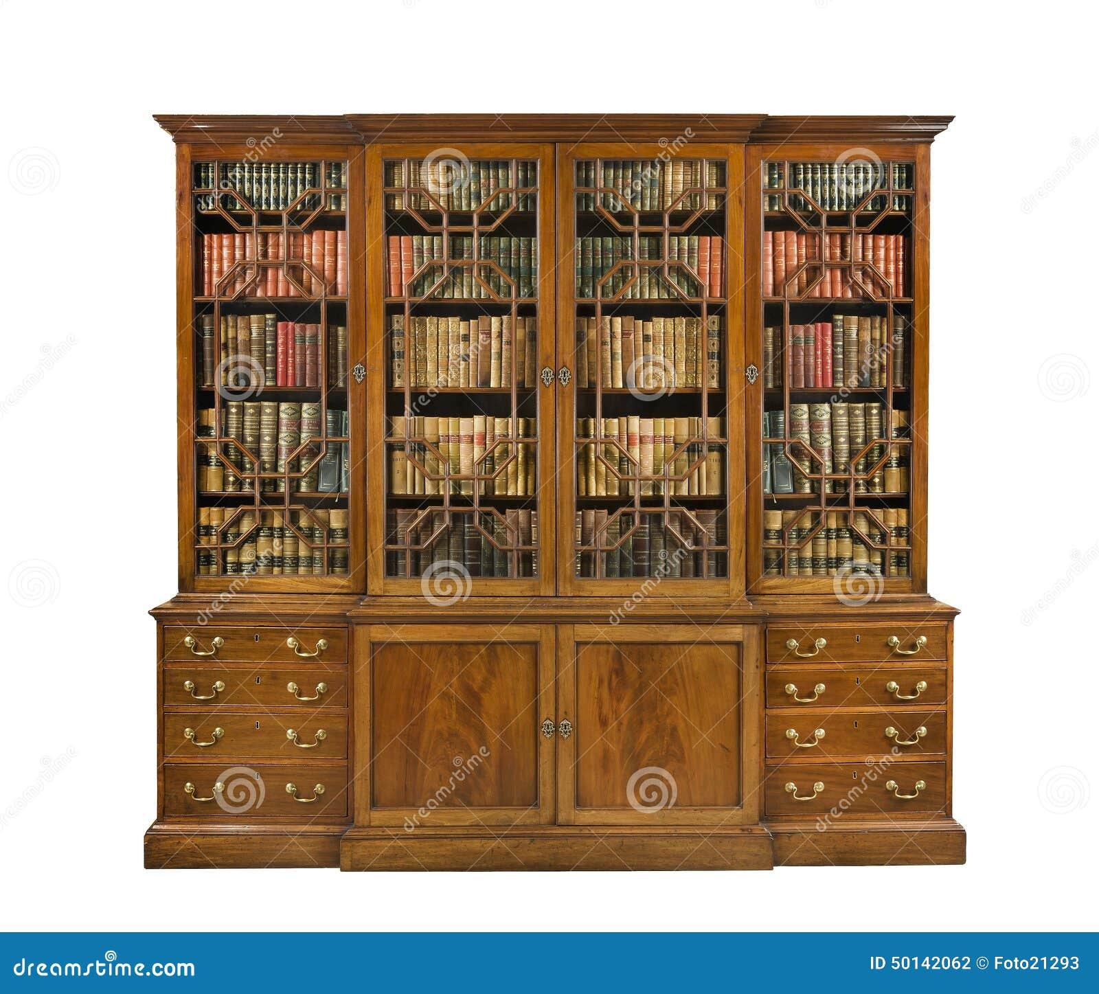 boekenkast het oude antieke engels met boeken