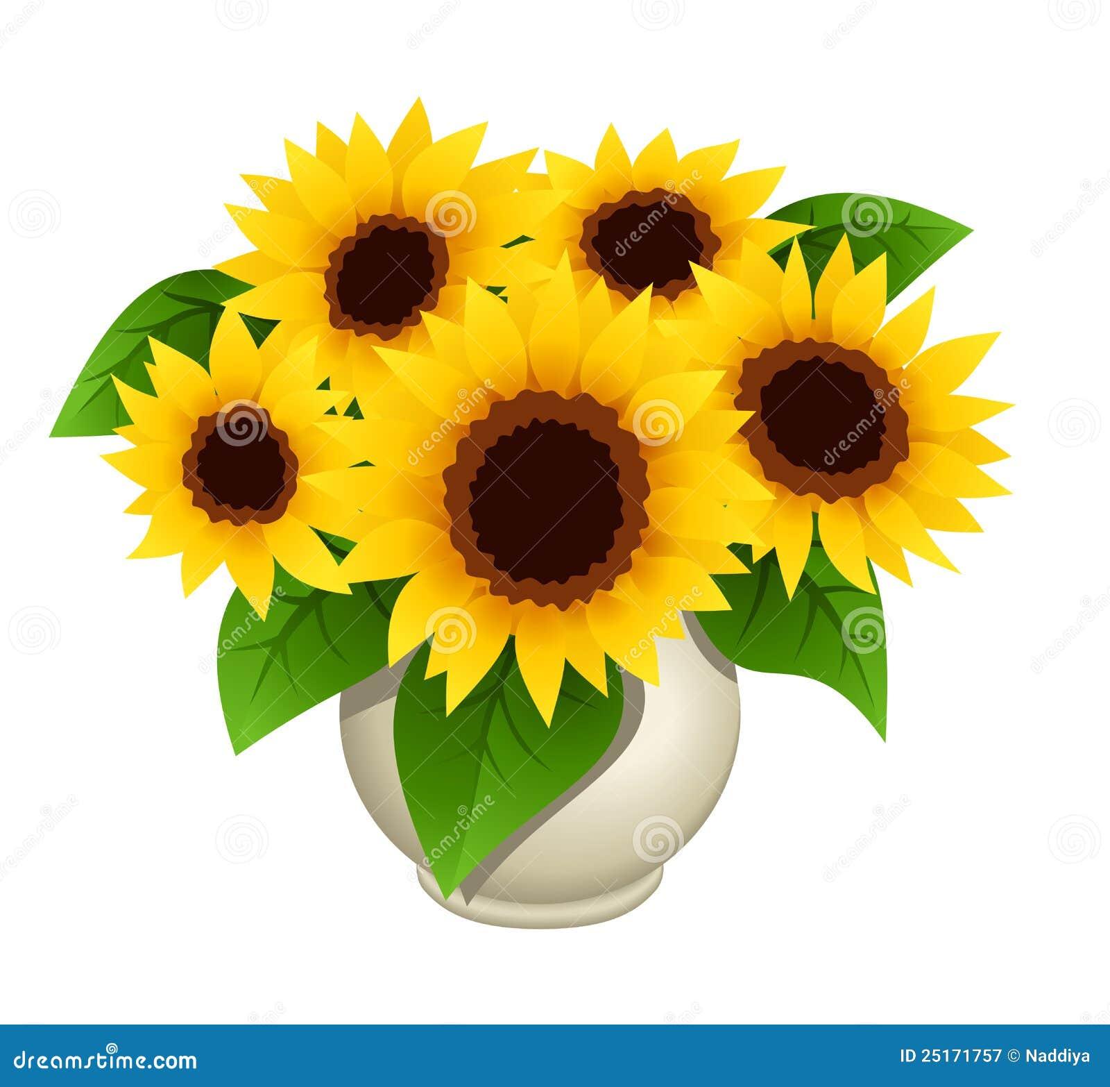 Boeket van zonnebloemen in vaas royalty vrije stock fotografie afbeelding 25171757 - Decoratie geel ...