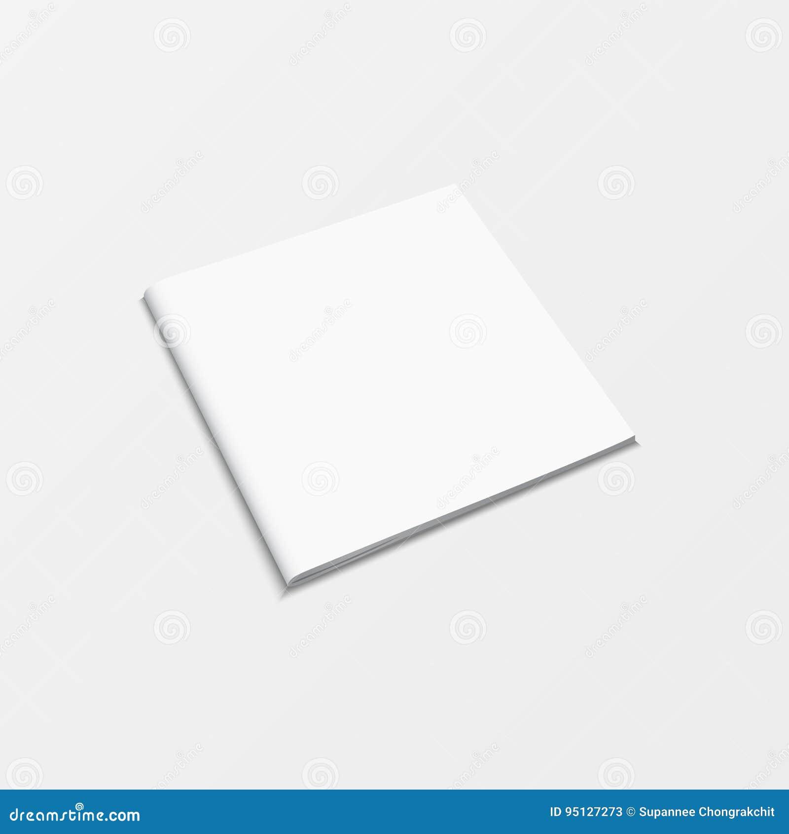 Boekjes lege witte die kleur op witte achtergrond wordt geïsoleerd 3d het malplaatje hoogste mening van het modelboek voor drukon