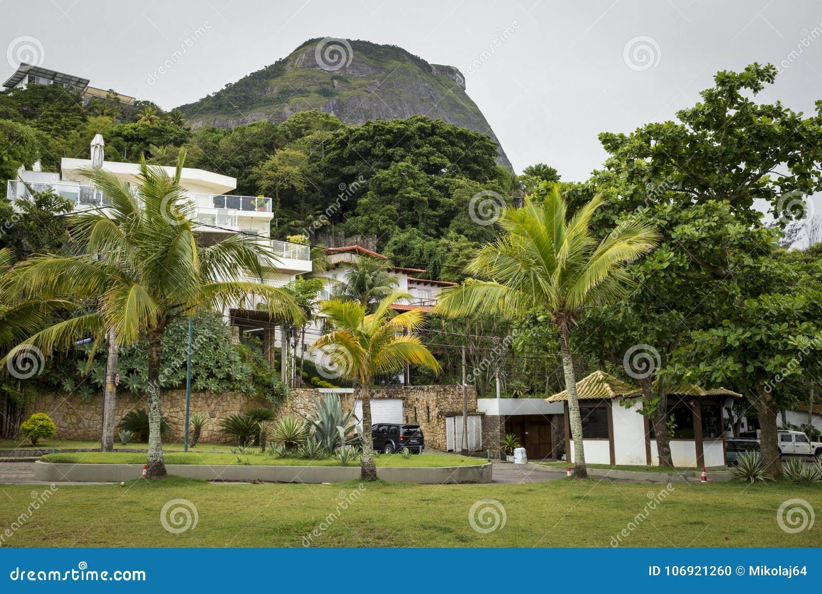 Bogaty okręg w Rio De Janeiro, Brazylia