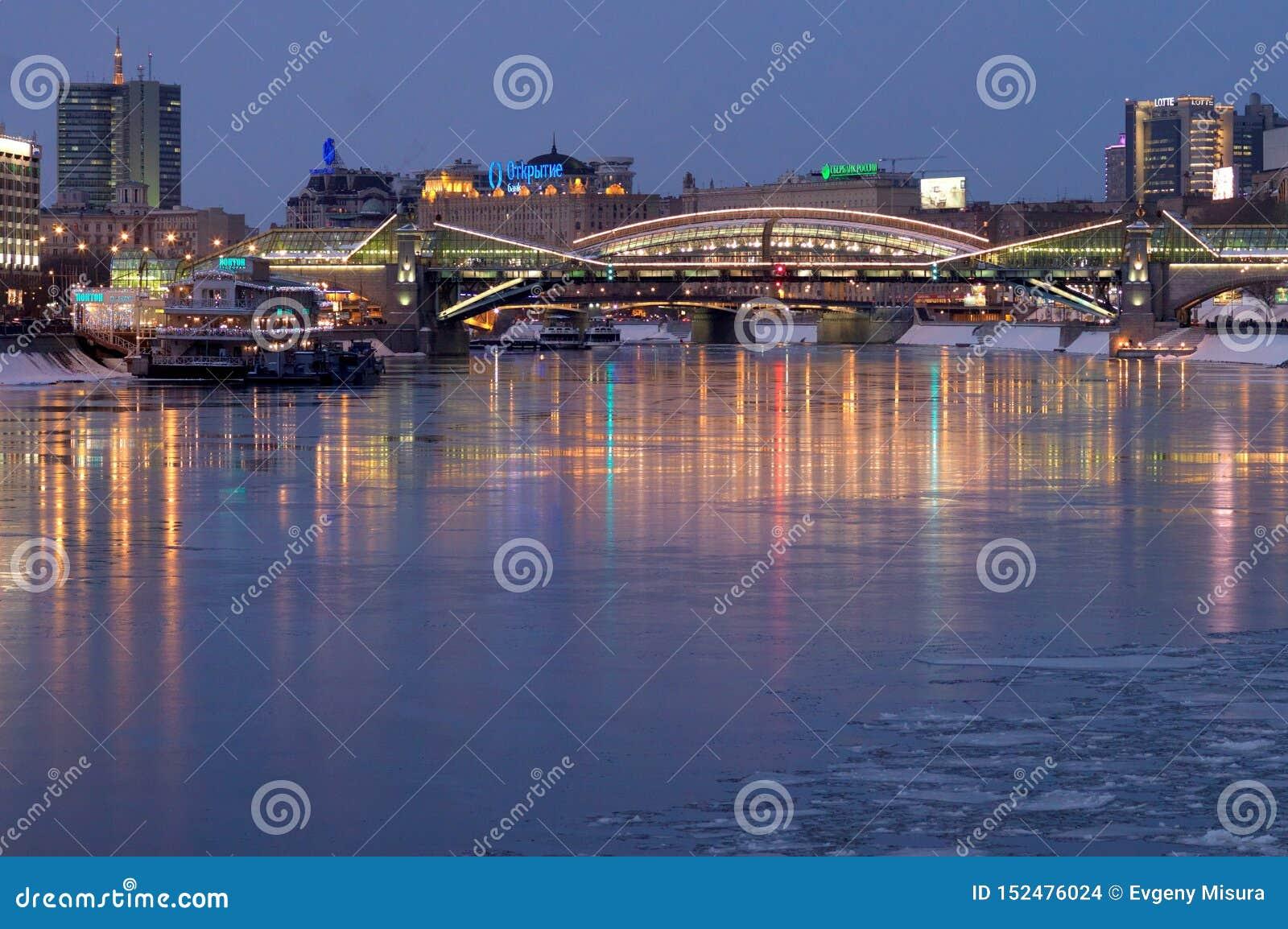Bogdan Khmelnitsky Bridge, Moskou, Rusland