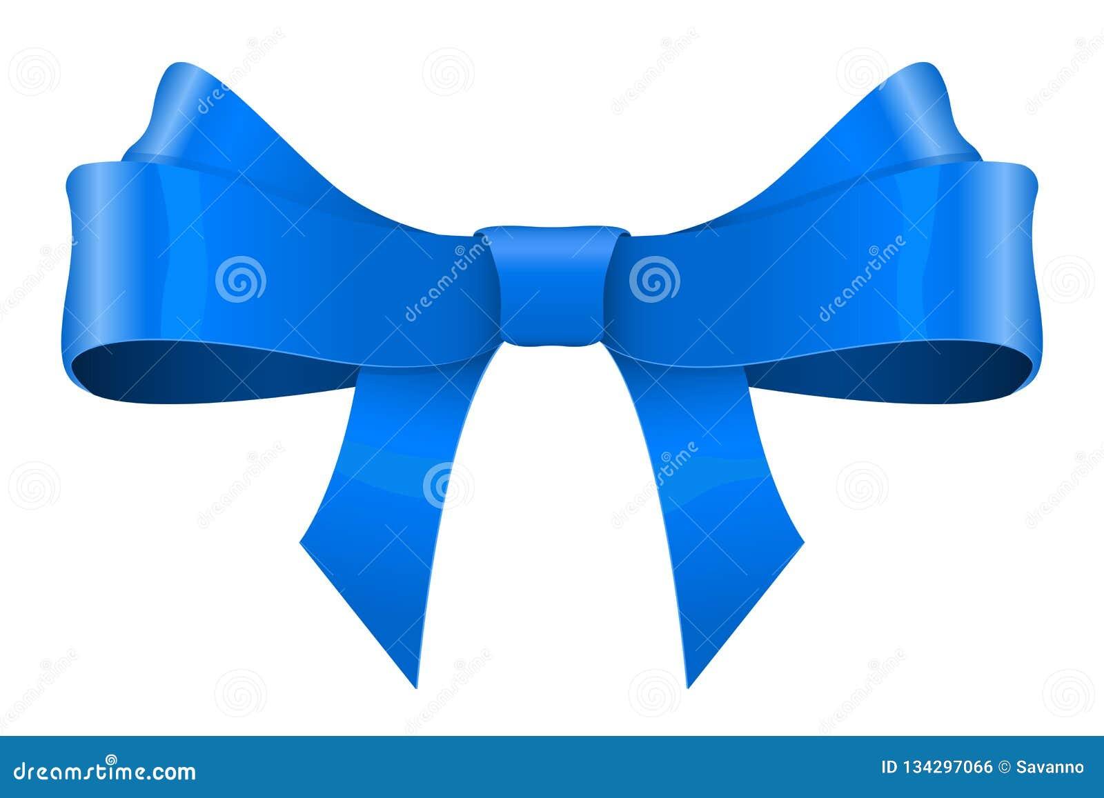 Bogen des blauen Farbbands