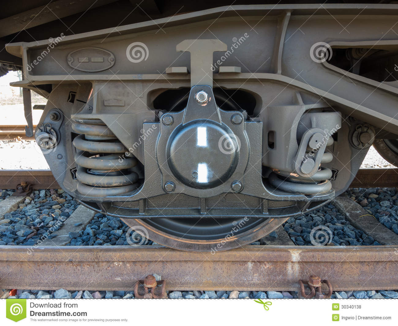 Bogie Of A Freight Wagon Royalty Free Stock Photos Image