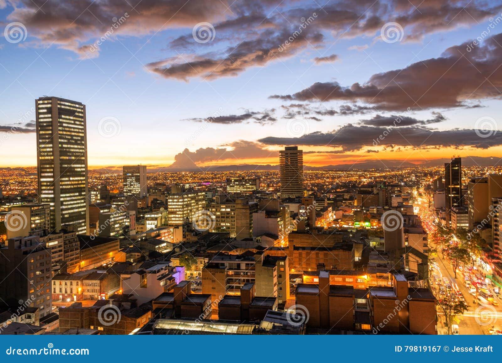 Bogota, Colombia al crepuscolo