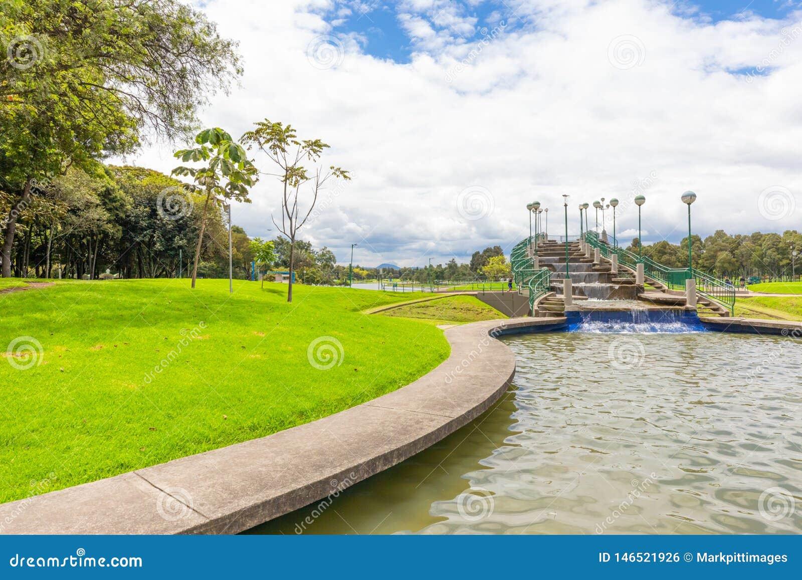 Bogota Simon Bolivar Park Artificial Waterfall Editorial Photo Image Of Fall Capital 146521926