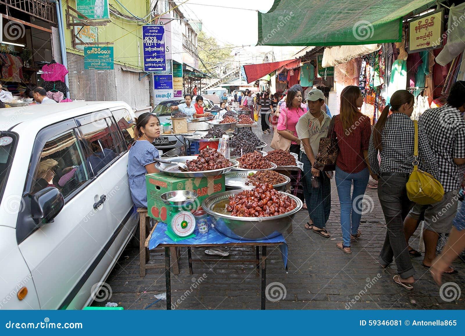 Bogyoke Aung San Market Yangon Myanmar Editorial Photo Image Of