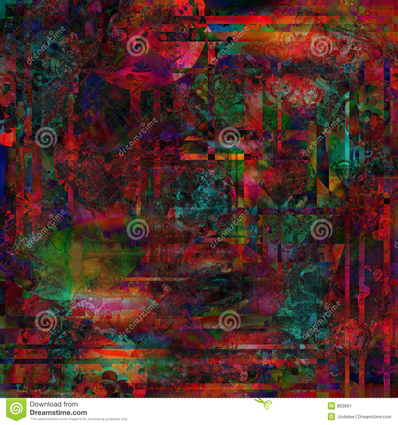 richly textured and colored bohemian style background for design and ...