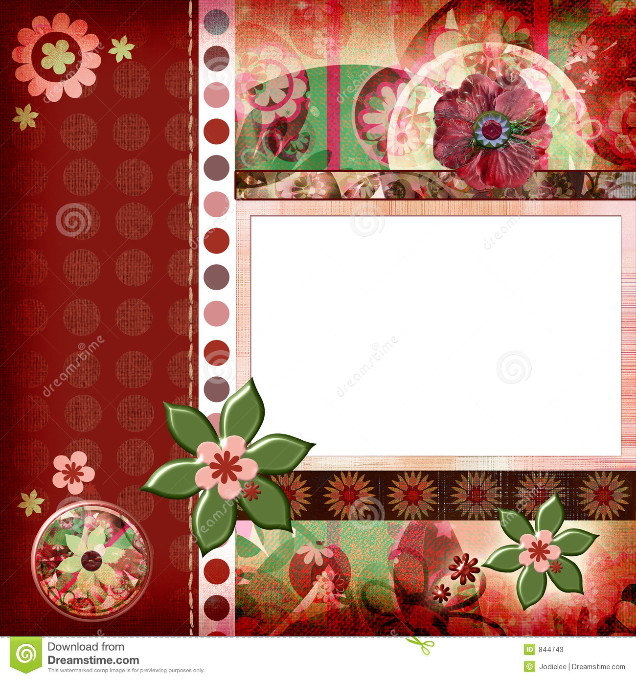 How to scrapbook 8x8 layouts - Bohemian Gypsy Style Scrapbook Album Page Layout 8x8 Inches Stock Photos