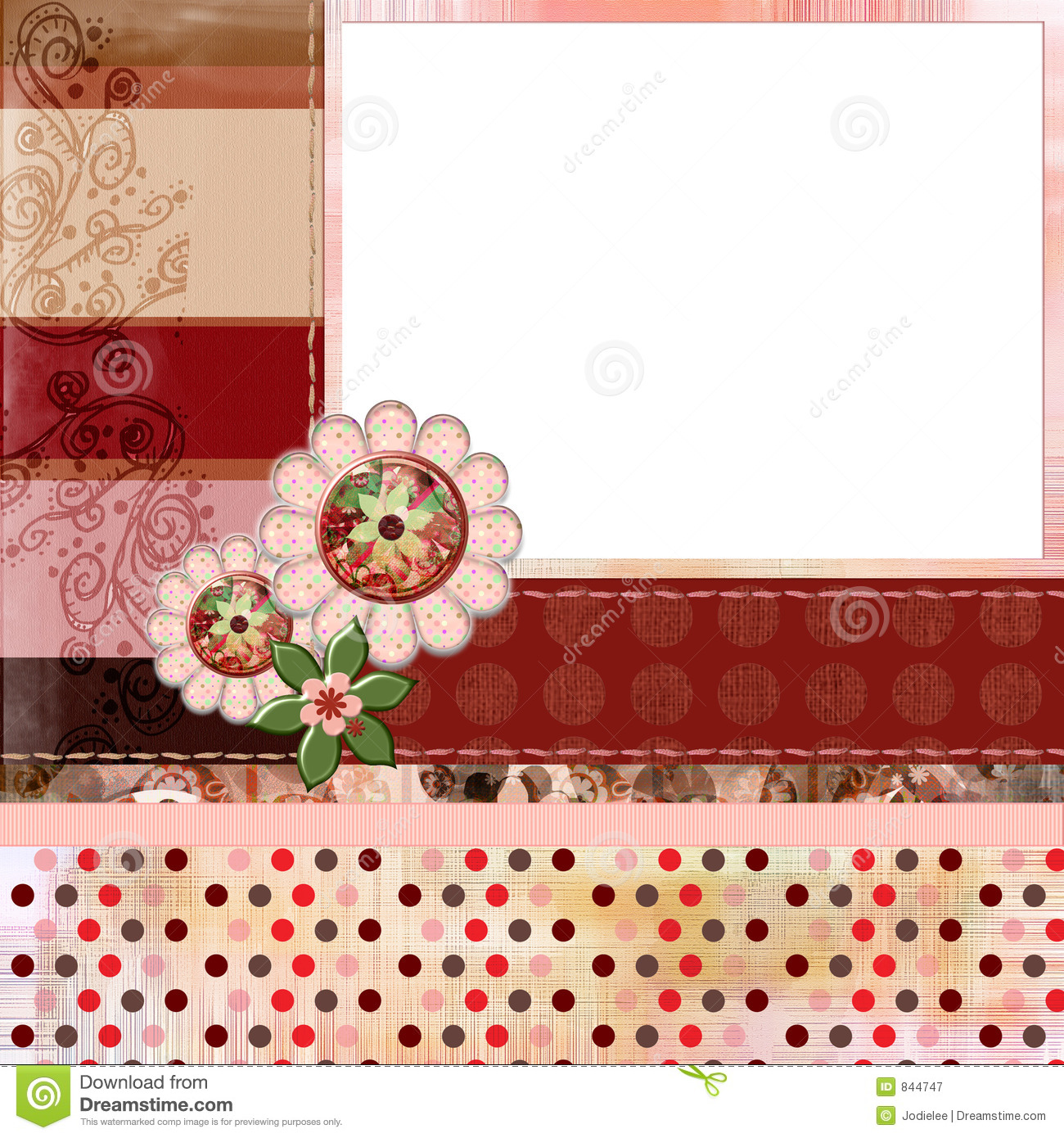 Scrapbook ideas layouts free - Bohemian Gypsy Style Scrapbook Album Page Layout 8x8 Inches Royalty Free Stock Photography