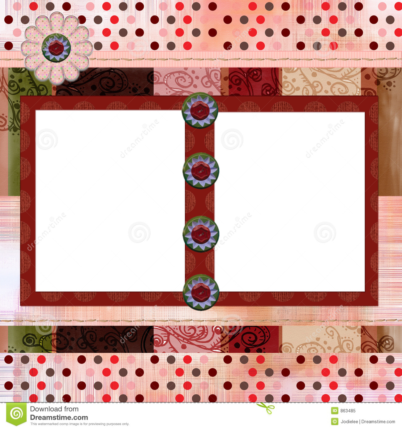 Scrapbook Page Templates Free Scrapbook Page Layout School Stock