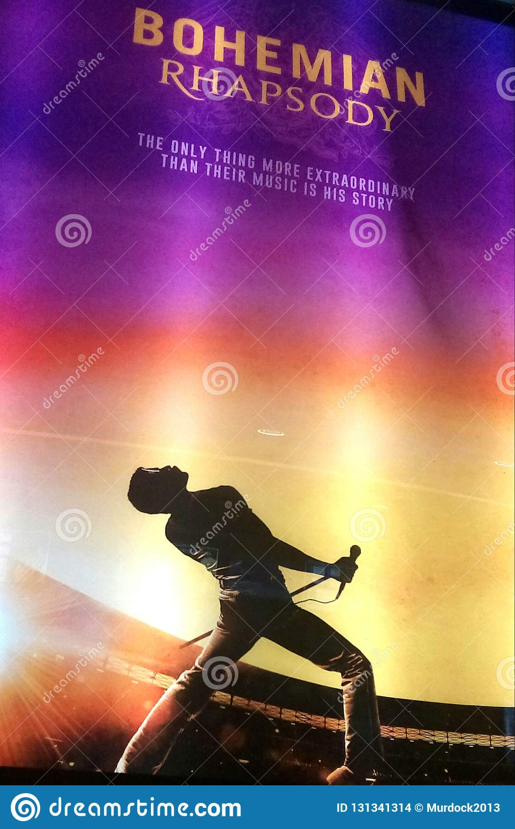 Bohemian Rhapsody Queen Movie Promotion Poster Editorial Stock Image