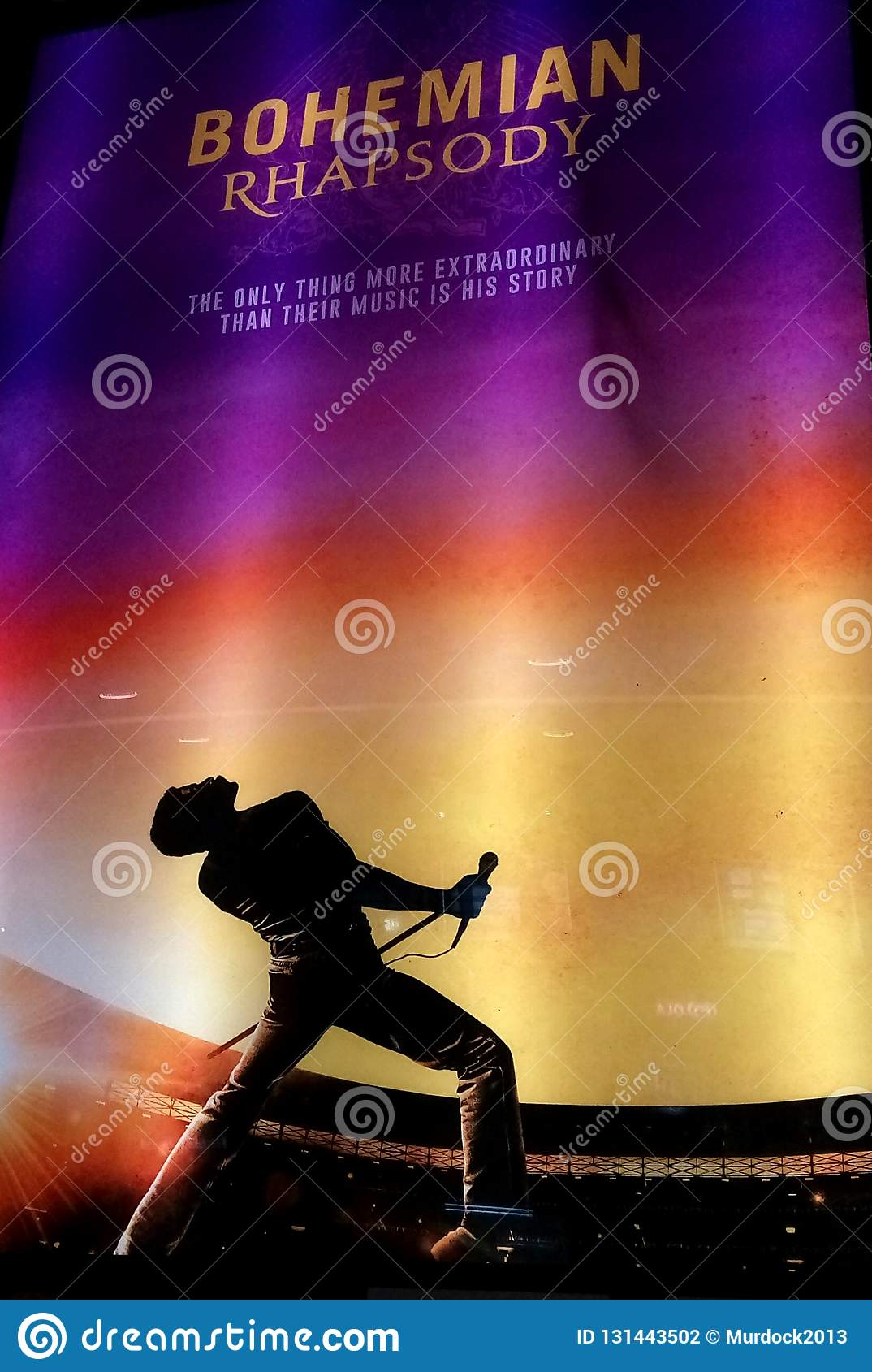 85241f6ded747 Bohemian Rhapsody Queen Movie Promotion Poster Editorial Photography ...